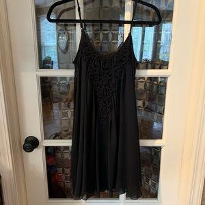 Express black slip dress